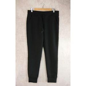 32 Degrees Black Fleece Tech Jogger Pants L